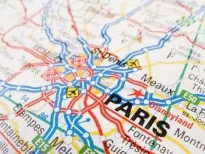 France Map with Paris