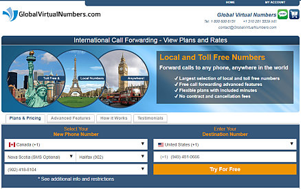 Virtual Number Rates Plans for Germany and other countries